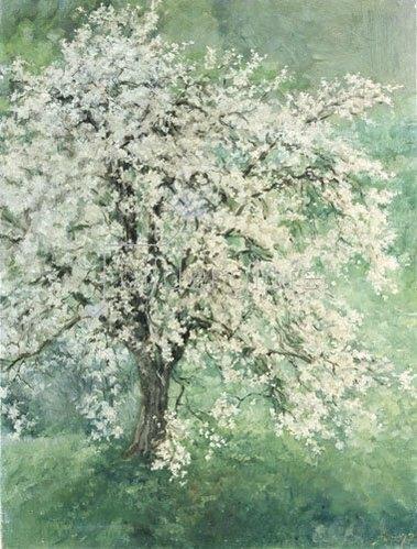 Louis Eysen: Blühender Apfelbaum. 1877