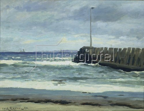 Carl Locher: Am Strand. 1886.