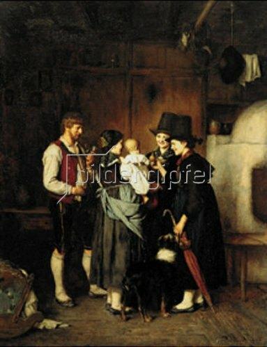 Franz von Defregger: Der Besuch. 1875