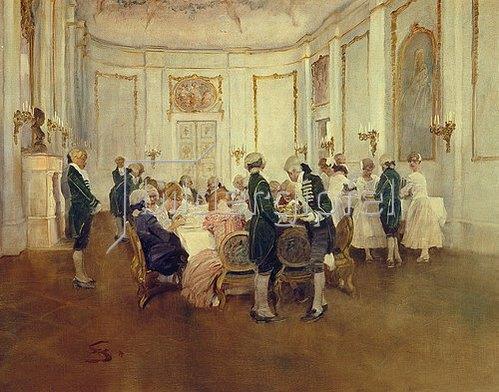 Wilhelm Schreuer: Feine Abendgesellschaft.