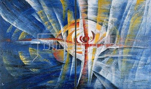 Annette Bartusch-Goger: Auferstehung. 2004. Diptychon.