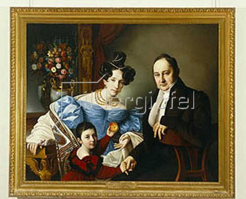 Giuseppe Tominz: Die Familie Brucker. Um 1840.