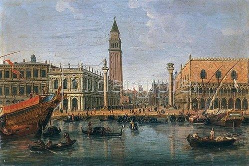 Gaspar Adriaens van Wittel: Blick zum Markus-Platz, Venedig. 1700/1736.