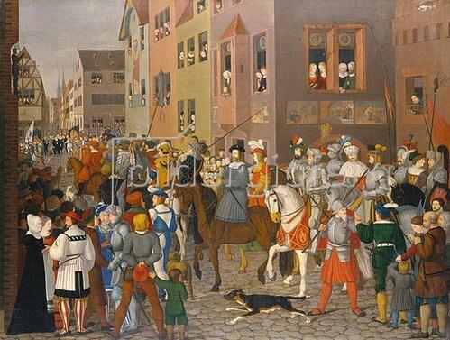 Franz Pforr: Der Einzug des Königs Rudolf von Habsburg in Basel im Jahre 1273.