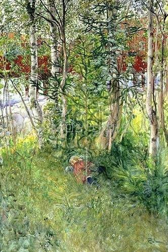 Carl Larsson: Schläfchen unter Birken (Tupplur i det Grona).