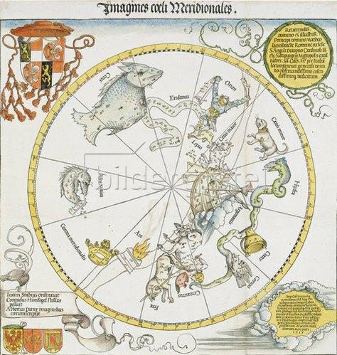 Albrecht Dürer: Karte des südl.Sternhimmels. 1515