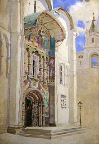 Vasilij Dimitrijew Polenow: Das Südportal der Maria-Himmelfahrt-Kathedrale im Moskauer Kreml. 1877