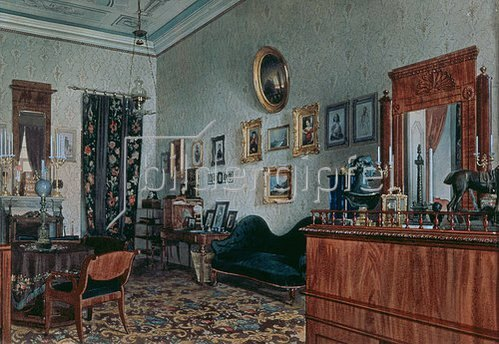 Ludwig (Louis) Premazzi: Das Büro von Mikhail Obreskoff. 1848.