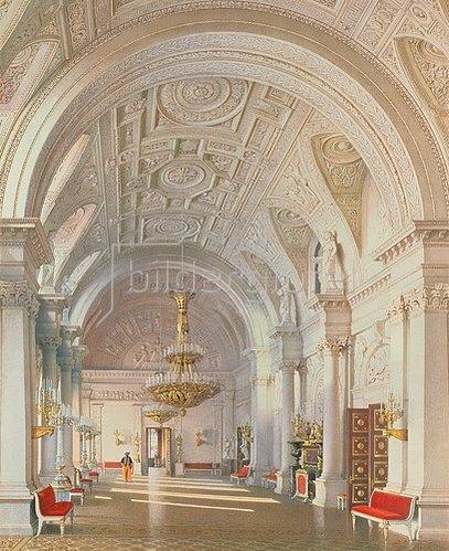 Ludwig (Louis) Premazzi: Die Weisse Halle im Winterpalast von St.Petersburg. 1865