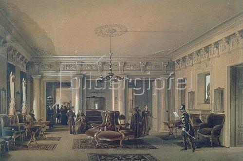Ludwig (Louis) Premazzi: Der Warteraum der St.Petersburger Poststation. 1848.