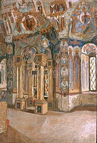 Pjotr Petrowitschev: In der Kirche der Gottheit in Rostow. 1910.
