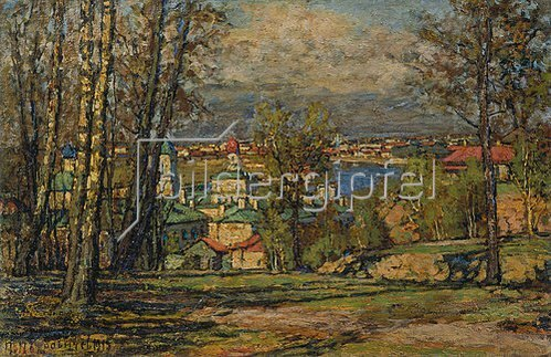 Pjotr Petrowitschev: Blick von den Worobjev-Hügeln auf Moskau.