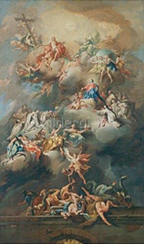 Johann Jakob Zeiller: Die Aufnahme Mariens in den Himmel.