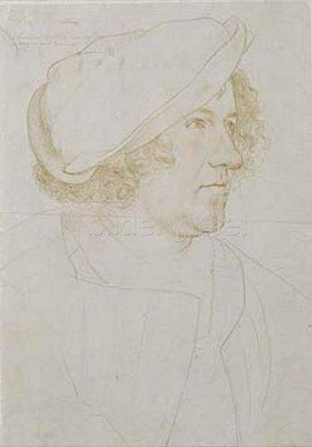 Hans Holbein d.J.: Jakob Meyer. Vorzeichnung zum Gemälde von 1516.