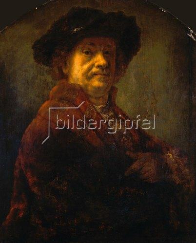 Rembrandt van Rijn: Selbstportrait. Vor 1712 (Rembrandt-Kopie).