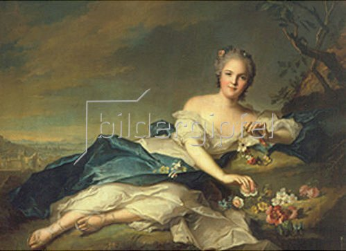 Jean Marc Nattier: Henrietta di Francia als Flora. 1742.