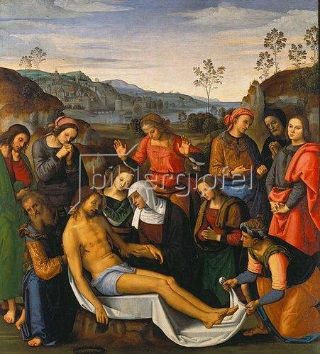 Perugino (Pietro Vanucci): Die Beweinung Christi. 1495