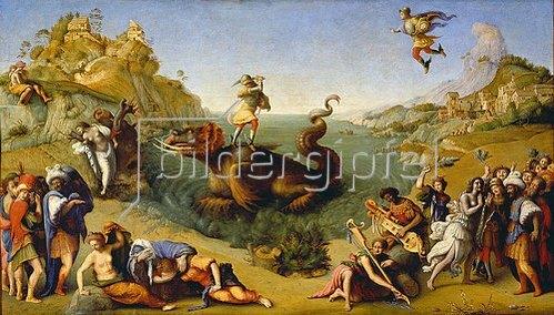 Piero di Cosimo: Perseus befreit Andromeda. Um 1515.