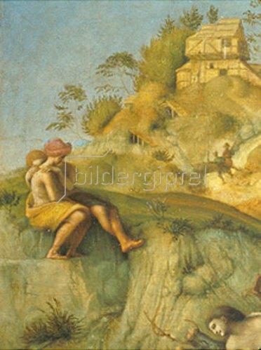 Piero di Cosimo: Ausschnitt aus Perseus befreit Andromeda. Um 1510