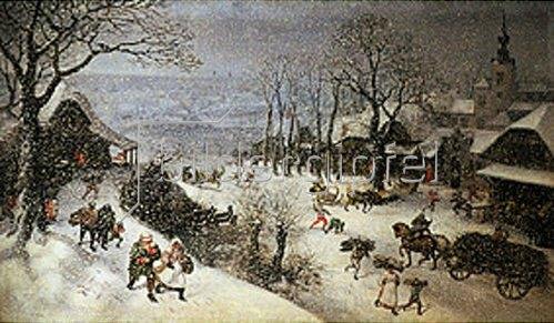 Lucas I. van Valckenborch: Winterlandschaft (Februar?). 1586