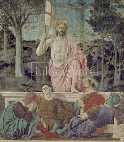 Piero della Francesca: Die Auferstehung Christi. Um 1465.