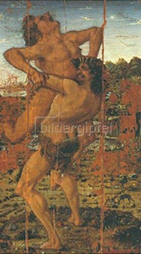 Antonio del Pollaiuolo: Herkules und Antaeus. Um 1460.