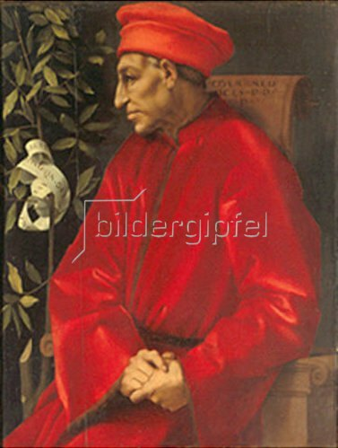Jacopo Carucci da Pontormo: Bildnis von Cosimo de `Medici d.Ä., 1518/1519
