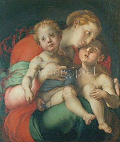 Jacopo Carucci da Pontormo: Maria mit dem Jesuskind und dem Johannesknaben. 1525/1528