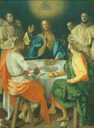 Jacopo Carucci da Pontormo: Das Mahl im Emmaus. 1525.