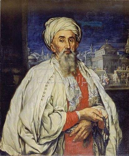 Carlo Antonio Sacconi: Bildnis eines Mannes in türkischem Kostüm.