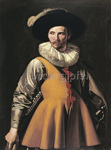 Umkreis Caravaggio: Bildnis eines Mannes.