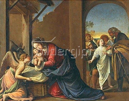 Alessandro Tiarini: Die Geburt Christi. 1600/1610.