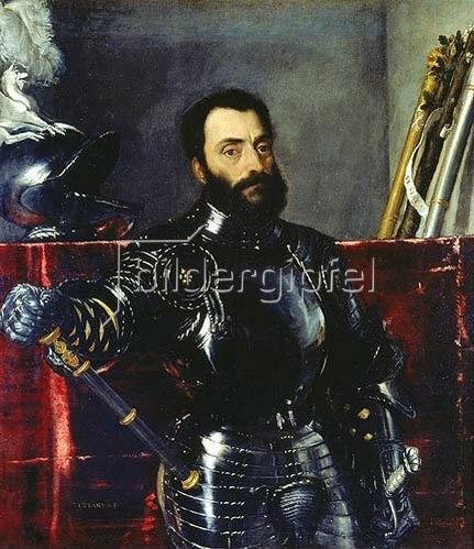 Tizian (Tiziano Vecellio): Bildnis des Francesco Maria della Rovere in Rüstung. 1536/1538.