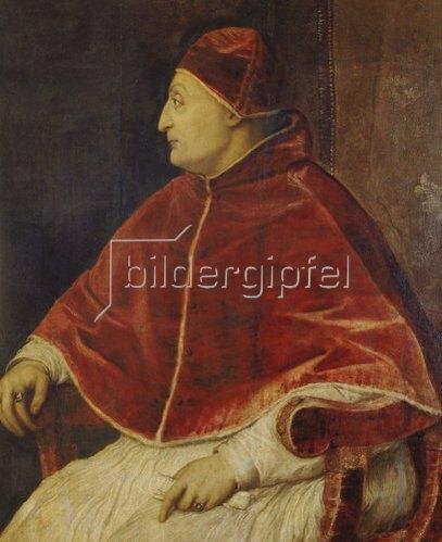 Tizian (Tiziano Vecellio): Bildnis des Papstes Sixtus IV. Um 1540.