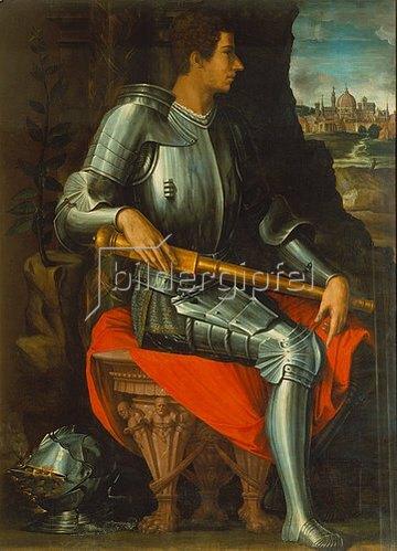 Giorgio Vasari: Bildnis von Alessandro de'Medici in Rüstung.
