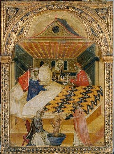 Paolo Veneziano: Geburt des Hl. Nikolaus.
