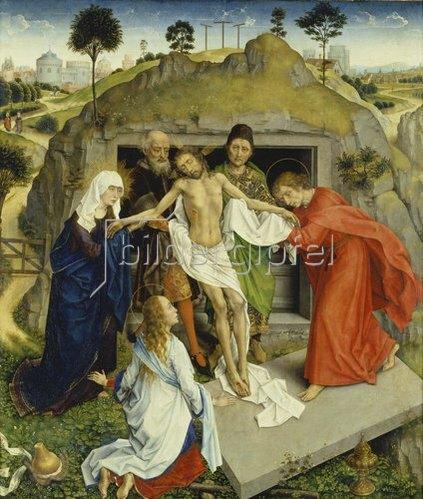 Rogier van der Weyden: Grablegung Christi. Um 1450.