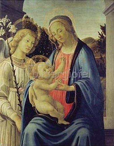 Sandro Botticelli: Madonna mit Kind und einem Engel.