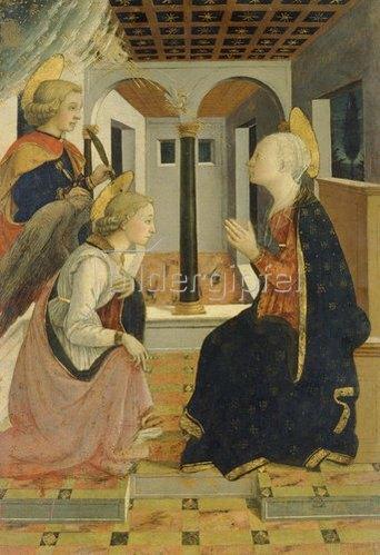 Fra Filippo Lippi: Die Verkündigung Mariae in Gegenwart des Hl. Julian.