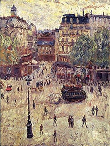 Georges Dufrenoy: Ein Platz in Paris, 1907