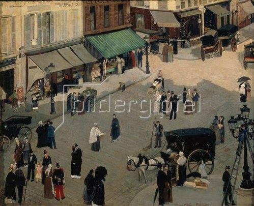 Pierre Carriere-Belleuse: Place Pigalle in Paris, um 1880