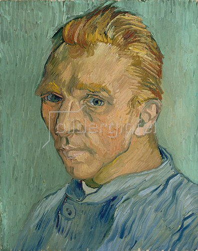 Vincent van Gogh: Selbstbildnis (ohne Bart). 1889