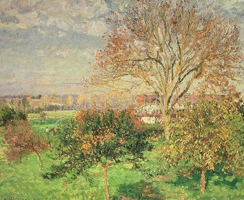 Camille Pissarro: Herbstmorgen in Eragny, 1897