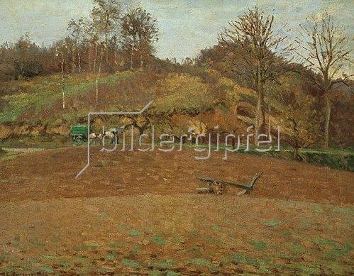Camille Pissarro: Gepflügte Erde, 1874