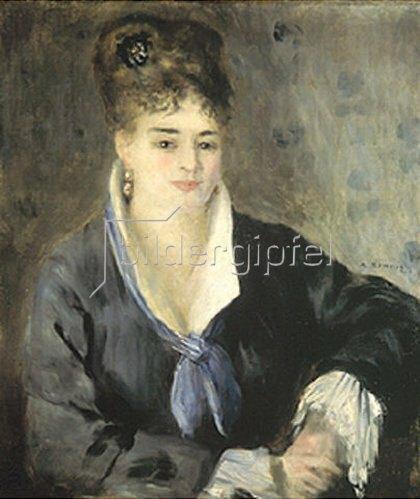 Auguste Renoir: Frau in schwarzem Kleid. 1876