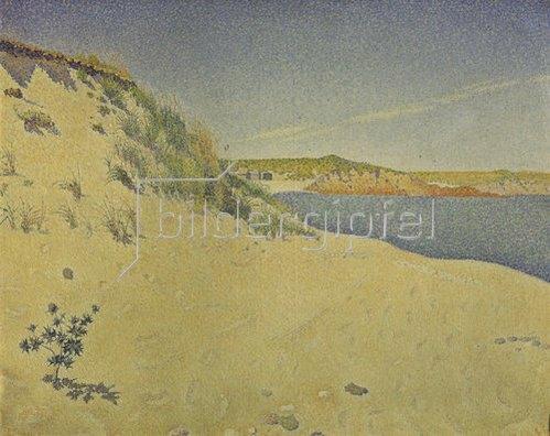 Paul Signac: Strand und Dünen in St. Briac. 1890
