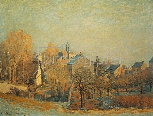 Alfred Sisley: Frostige Landschaft in Louveciennes. 1873