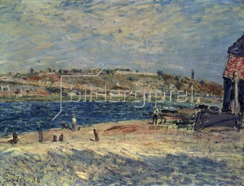 Alfred Sisley: Flussufer in Saint-Mammes. 1884