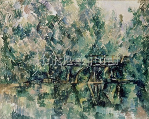 Paul Cézanne: Holzsteg über einem Bach. Um 1898