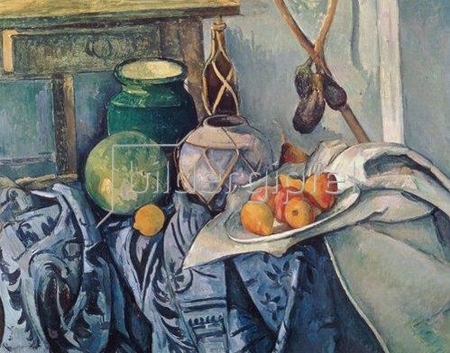 Paul Cézanne: Obststillleben mit Krügen und Flasche.